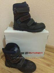 Зимние ботинки Minimen на мальчика 35 размер