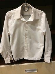 Белоснежная школьная рубашка Marks&Spenser