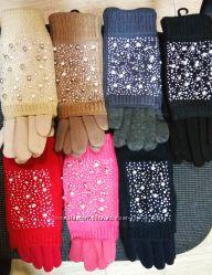 Перчатки с митенками, комплект