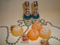 Новогоднее мыло - обезьянка, ёлки, снежинки, мандаринки, шампанское