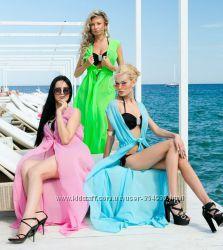 Большой выбор пляжных накидок Разная длина и фасон Выбор цветов