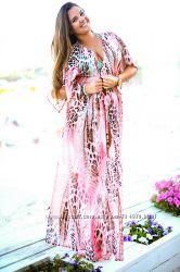 Женские пляжные платья туники Выбор цветов и размеров Батал 52-56