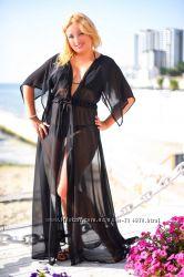 Пляжные женские туники Длинные и короткие Выбор цветов большие размер 52-56