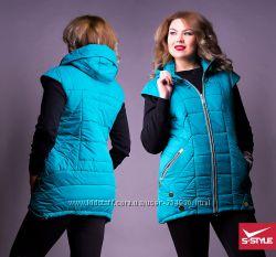 Мега-стильные женские жилетки Большие размеры 50-58 Выбор цветов и моделей