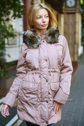 Теплые куртки парки с искусственным мехом Выбор цвета и размеров