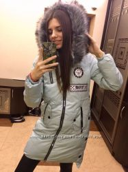 Теплые стильные женские куртки Зима Выбор цвета и размера