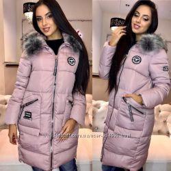 Женские теплые куртки Зима Много разных цветов и размеров