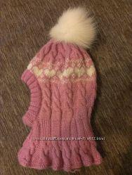 Зимняя шапка-шлем на 2-3года