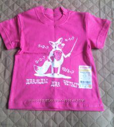 Новая футболка для девочки размер 86