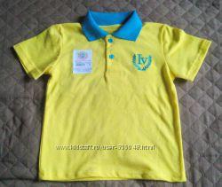 Новая футболка-поло на мальчика 104-110 см