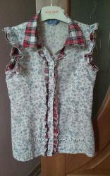 Хлопковая рубашка для девочки To bee too р. 38
