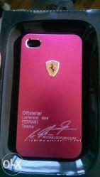 Оригинальный чехол-накладка для iPhone 4, 4s Ferrari