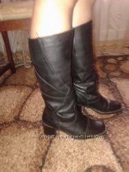 Женские зимние кожаные сапоги р. 37Цену снизиа вдвое