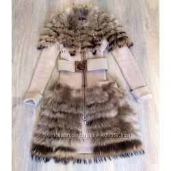 Пальто комбинированное Paola Frani