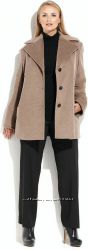 CALVIN KLEIN фирмен пальто шерсть кашемир с шарфом из США р. 1Х р. 56-58-UA