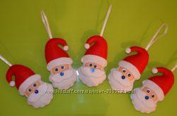 Сувенирные дедушки морозы из фетра