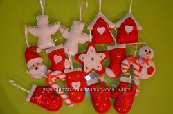 Большой выбор говогодних игрушек и сувениров из фетра. HandMade