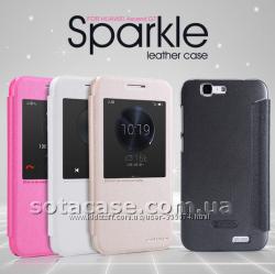 Новый чехол книжка Nillkin Sparkle для Huawei Ascend G7 разные цвета