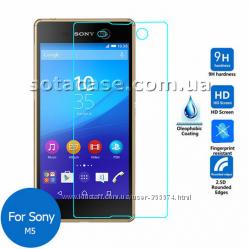 Новое оригинальное защитное стекло на Sony Xperia M5 E5633 E5663