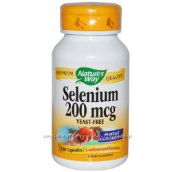 Селен Nature&acutes Way, Selenium, 200 mcg, 100 Capsules
