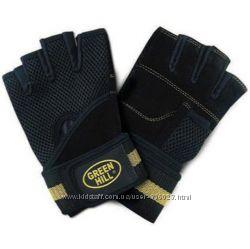 Перчатки для фитнесабодибилдинга TM GREEN HILL M чёрный