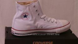 Converse кеды высокие текстильные Конверс чёрные белые