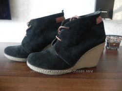 Замшевые ботинки Аквамарин