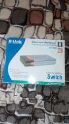 Продам коммутатор Switch D-Link DES-1008D 8-Port 10100Mbps новый