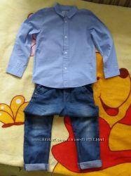 Рубашка Chicco, Next, джинсы Next