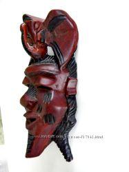 маска Африка красное дерево