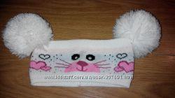 Шапка-повязка  с  кошечкойна  3-6  лет.