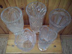Хрустальные вазы для цветов, отличное состояние