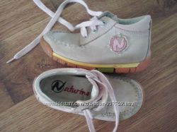 Замшевые ботиночки NATURINO р. 22, ст. 13, 5 см срочно
