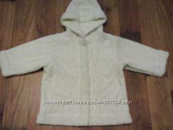 Легкая деми дубленка-пальто на 9-12 мес.