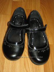 Кожаные школьные туфельки F & F Англия, размер 29 18, 5 см