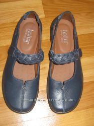 Новые кожаные туфли-мокасины Hotter Англия, размер 4 37 24 см