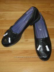 Новые стильные кожаные туфли-лоферы Hotter Англия, р. 6, 5 39, 5 26 cм