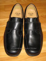 Новые стильные кожаные туфли-мокасины Clarks Англия, размер 46 30, 5 см