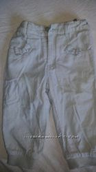 вельтовые штанишки на хлопковой подкладке р80