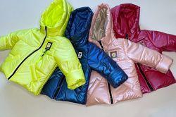 Новинка Куртка деми для девочек, 80-140 рост.