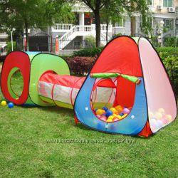 4 вида. Двойные игровые палатки с тоннелем 3 в 1