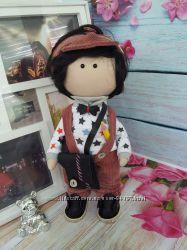 Интерьерная кукла куколка деловой парень 24см