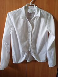Белая блузка для девочки р.164