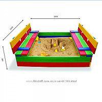 Песочница - трансформер с лавочками разноцветная и неокрашенная арт. 11