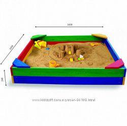 Песочница для улицы разноцветная и неокрашенная