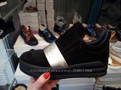 Стильные ботинки Натур замш и кожа