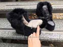 Зимние ботинки в стиле Занотти Кожа