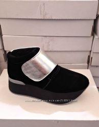 Женские ботинки на платформе Натуральная замша Деми и зима