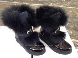 Стильные ботинки Качество Люкс Зима