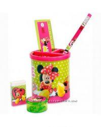 Подставка канцелярская металлическая Minnie Mouse с наполнением Olli